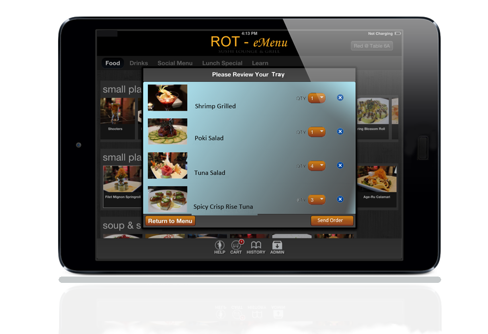 ROS Wireless Ordering Solution